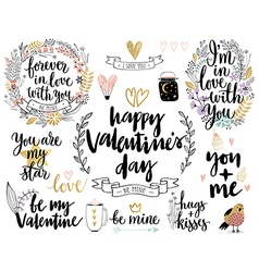Valentines Day Callygraphic vector image