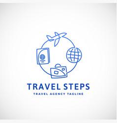 Travel steps abstract sign emblem or logo vector