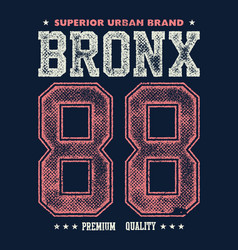 Vintage bronx typography t-shirt graphics vector