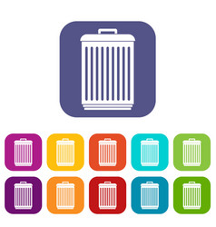 Trashcan icons set vector