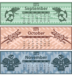 Calendar 2014 autumn vector