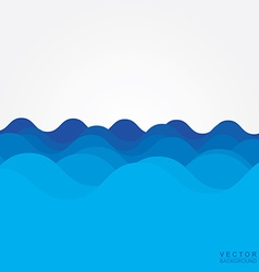 Sea wave vector image