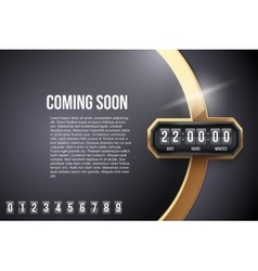 Luxury background coming soon and countdown timer vector