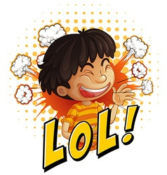 Little boy with word expression vector image