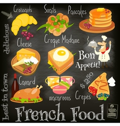 French food chalk vector