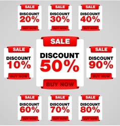 Discount or sale tag vector image