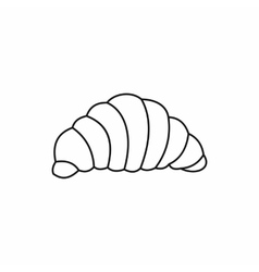 Croissant icon outline style vector