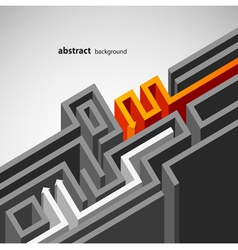 abstract labyrinth background vector image vector image