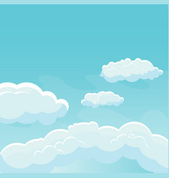 background sky with clouds vector image