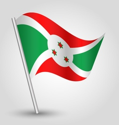 Burundian flag on pole vector