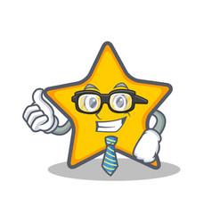 Businessman star character cartoon style vector