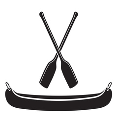 Canoe with Paddle vector image vector image