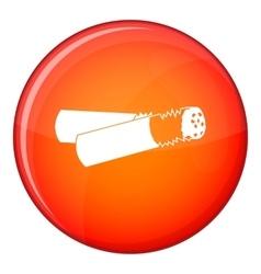 Cigarette butt icon flat style vector