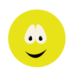 Colorful emoticon smile face expression vector