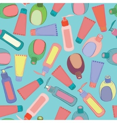Cosmetic bottles pattern vector