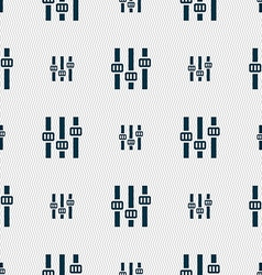 Equalizer icon sign Seamless pattern with vector image