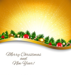 Golden Sunburst Xmas Poster vector image