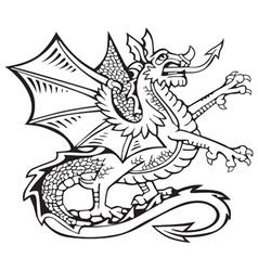 Heraldic dragon no2 vector