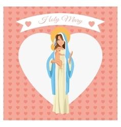 Holy mary cartoon design vector