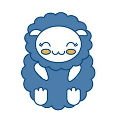 Kawaii sheep icon vector