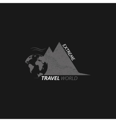 Logo extreme travel world vector