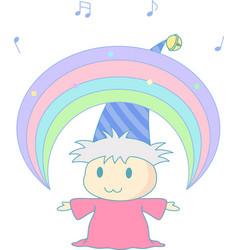 magical rainbow vector image vector image