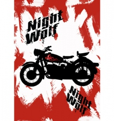 motor horror poster vector image vector image