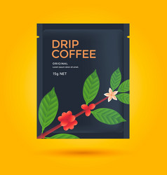 packaging design for coffee vector image