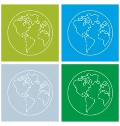 Planet Earth sign set isolated on white background vector image