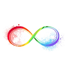 Rainbow Symbol of Infinity vector image