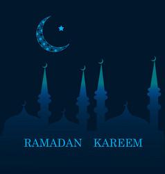 ramadan greetings background vector image
