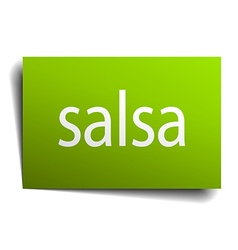 Salsa square paper sign isolated on white vector