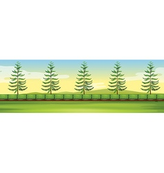 Scene with trees in the park vector image vector image
