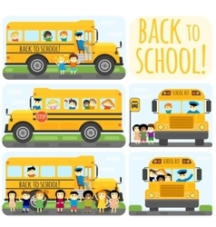 School bus set vector