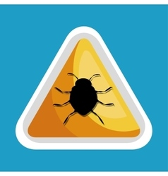 security data alert virus icon design vector image