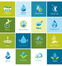 Set of water icons vector image vector image