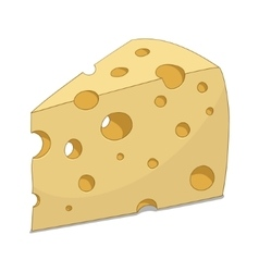 Slice of cheese vector