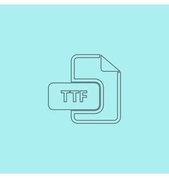 Ttf extension text file type icon vector