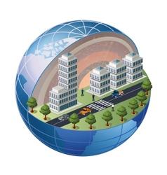 Urban district vector image vector image