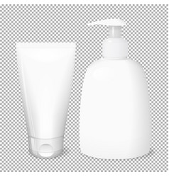 White bottle and tube templates vector