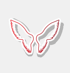wings sign new year reddish vector image vector image