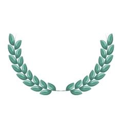 Wreath leafs crown frame vector