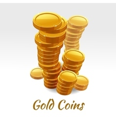 Gold coins pile financial concept vector image