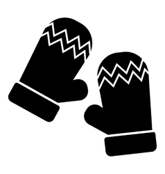 Mittens icon simple style vector