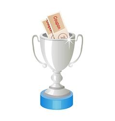 Icon silver trophy vector