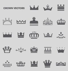 Set of crowns and tiaras vector