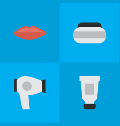 Set of simple elegance icons vector