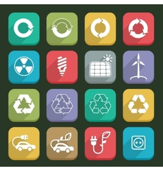 Ecology icons 03 vector