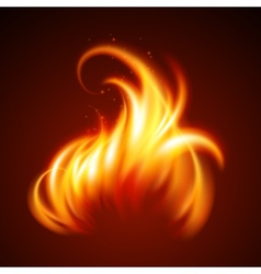 Fire realistic background vector