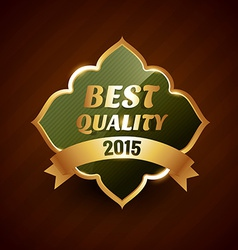 Best quality of 2015 golden label badge design vector